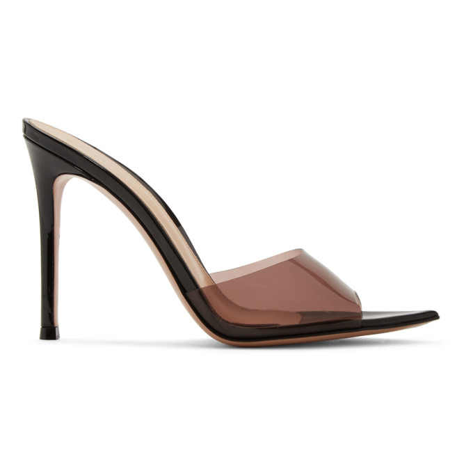 Gianvito Rossi Black & Pink Patent Elle Sandals