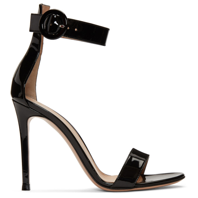 Portofino 105 Leather Sandals in Black