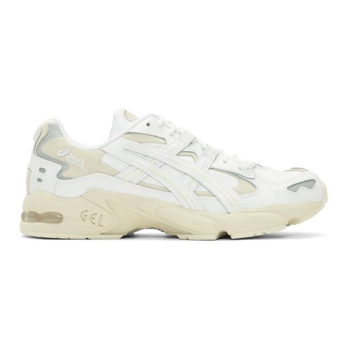 Image of Asics White & Beige Gel-Kayano 5 OG Sneakers