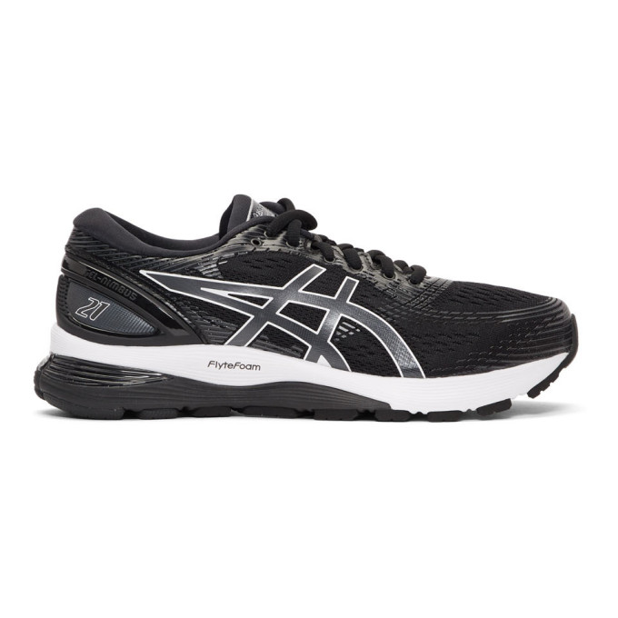 Image of Asics Black & White Gel-Nimbus 21 Sneakers