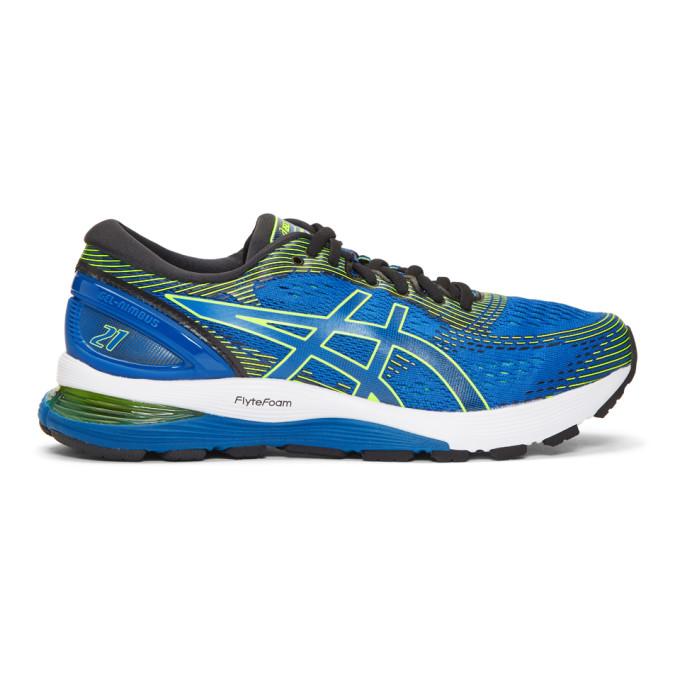 Image of Asics Blue Gel-Nimbus 21 Sneakers
