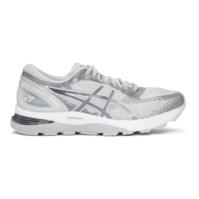 Image of Asics Grey Gel-Nimbus 21 Sneakers