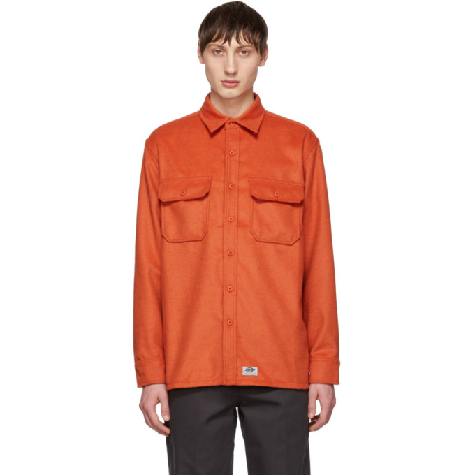 Image of Dickies Construct Orange Flannel Shirt