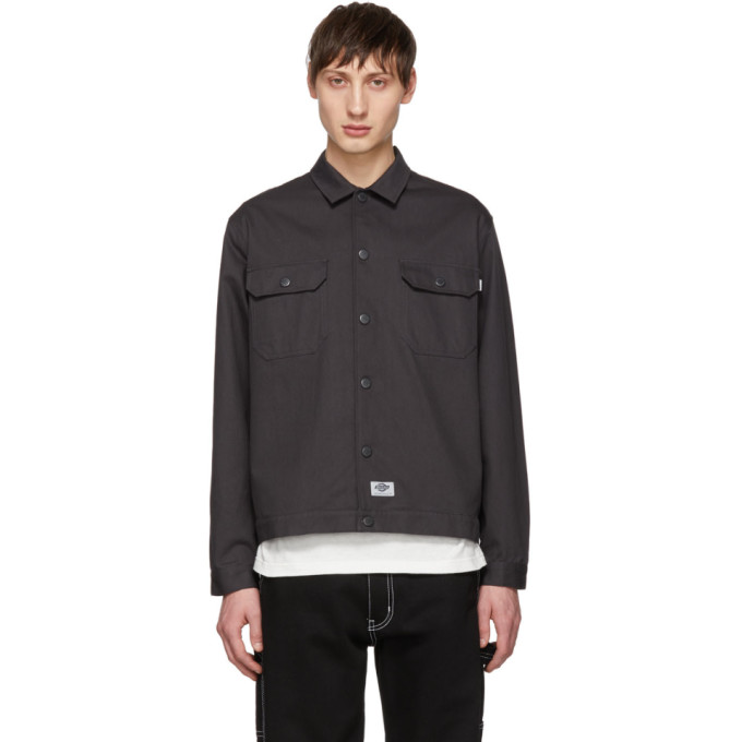 Image of Dickies Construct Black Twill Shirt