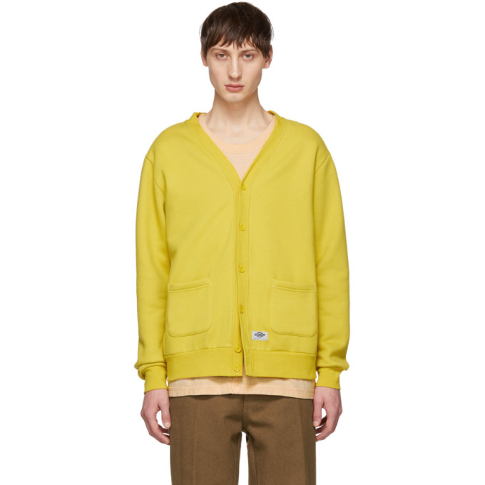 Image of Dickies Construct Yellow Fleece Cardigan
