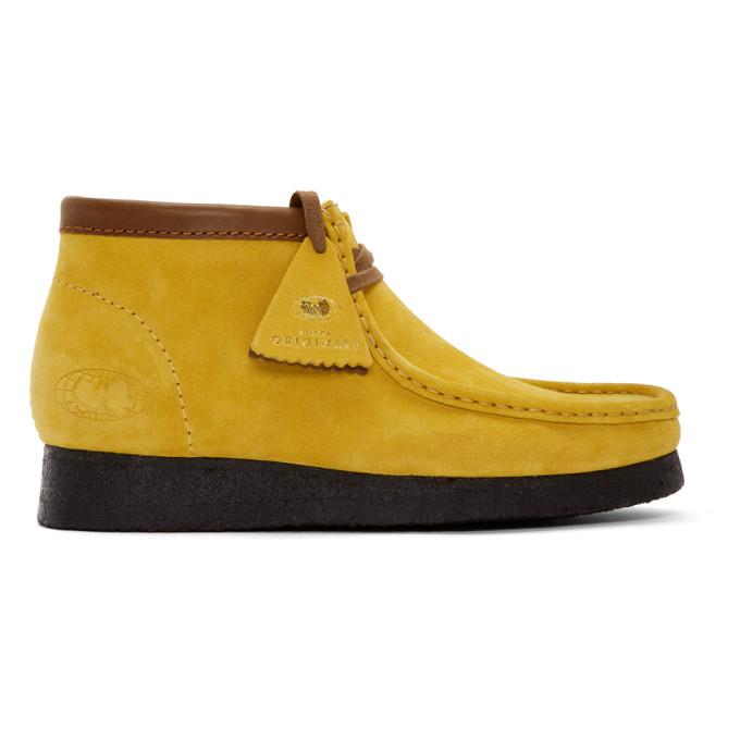 CLARKS Clarks Originals Yellow Wu Wear Edition Wallabee Boots