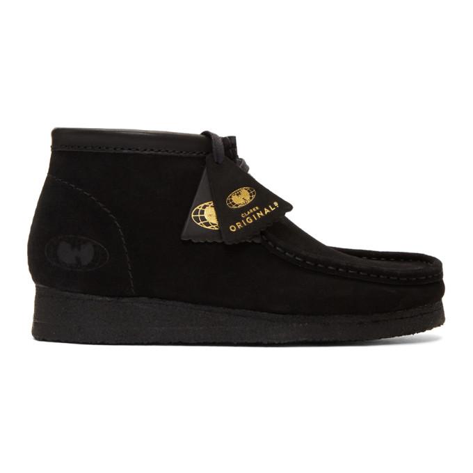 Image of Clarks Originals Black Wu Wear Edition Suede Wallabee Boots