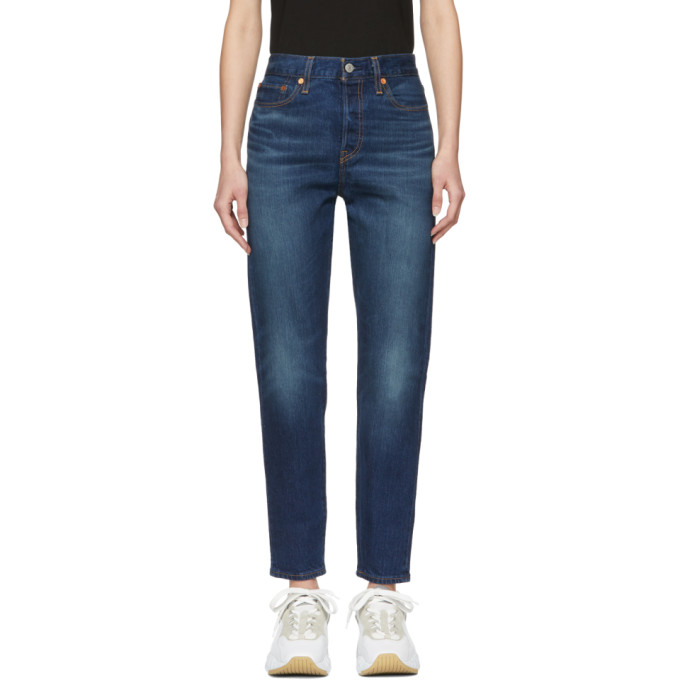 Levis Blue Wedgie Icon Fit Jeans in Authentic F