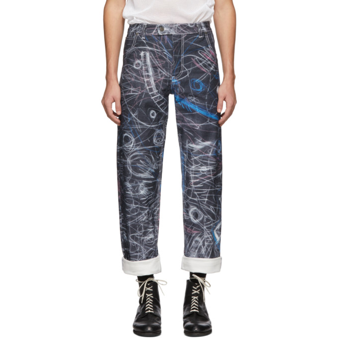 Charles Jeffrey Loverboy Jean bleu Chalk Madness