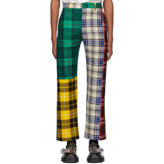 Charles Jeffrey Loverboy Pantalon multicolore Mixed Tartan Charles