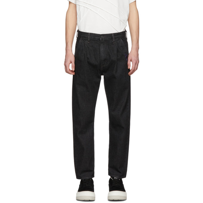 Image of Feng Chen Wang Black Levi's Edition Rinse Jeans