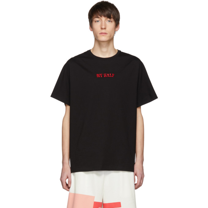 Image of Feng Chen Wang Black 'My Half' T-Shirt