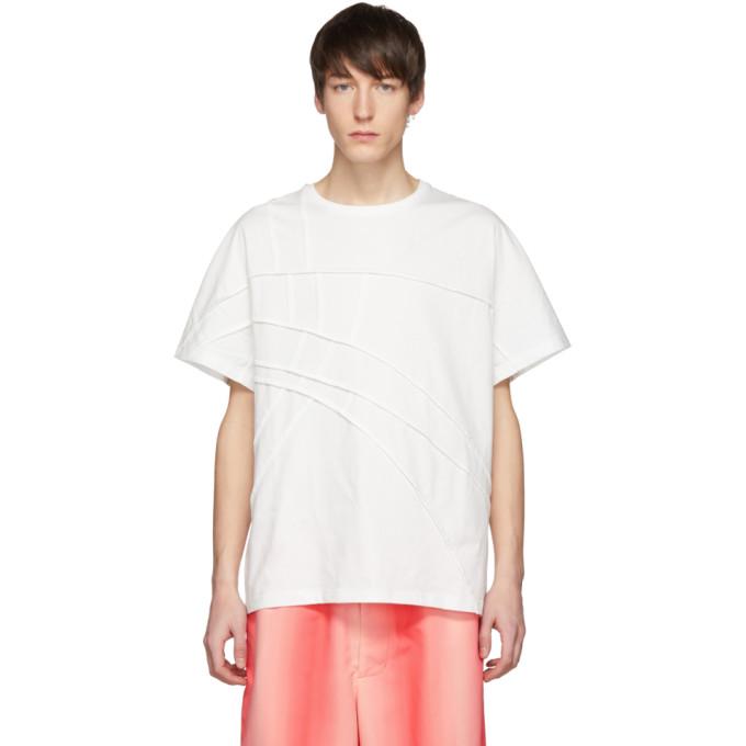 Feng Chen Wang T-shirt a panneaux blanc