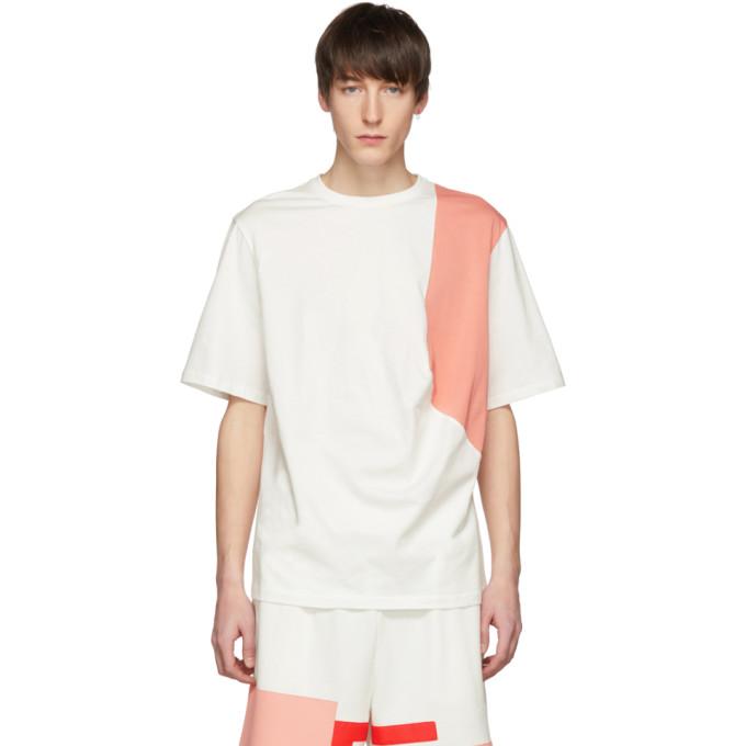 Feng Chen Wang T-shirt blanc et rose Contrast