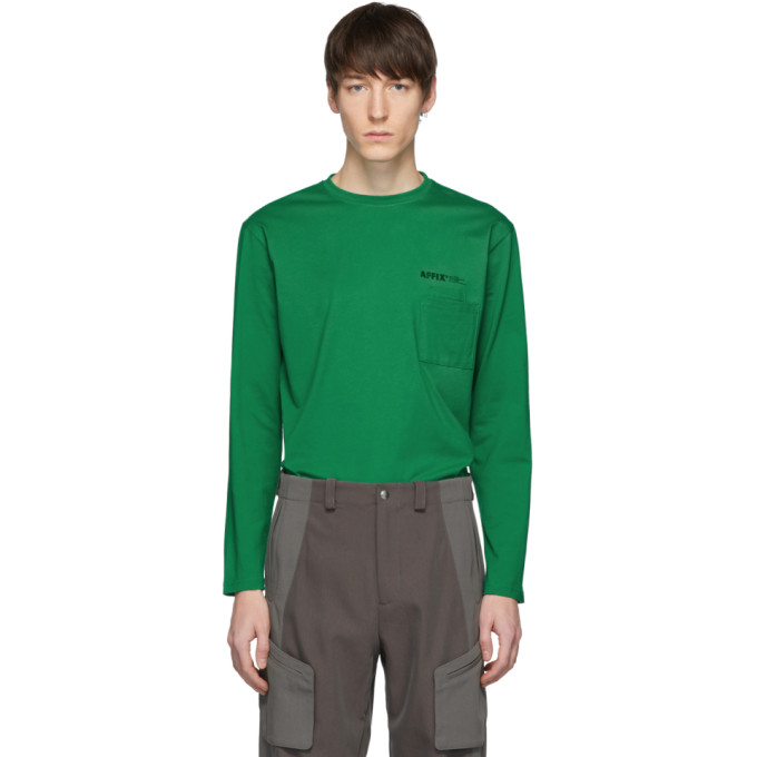 Affix T-shirt a logo vert Double Chest Pocket