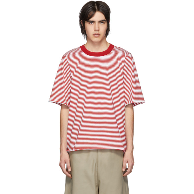 Camiel Fortgens T-shirt rouge Tailored Double