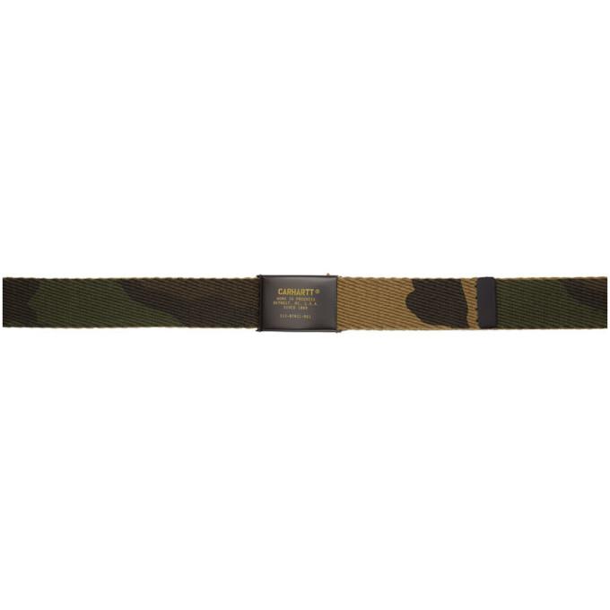 CARHARTT | Carhartt Work In Progress Green Military Printed Belt | Goxip