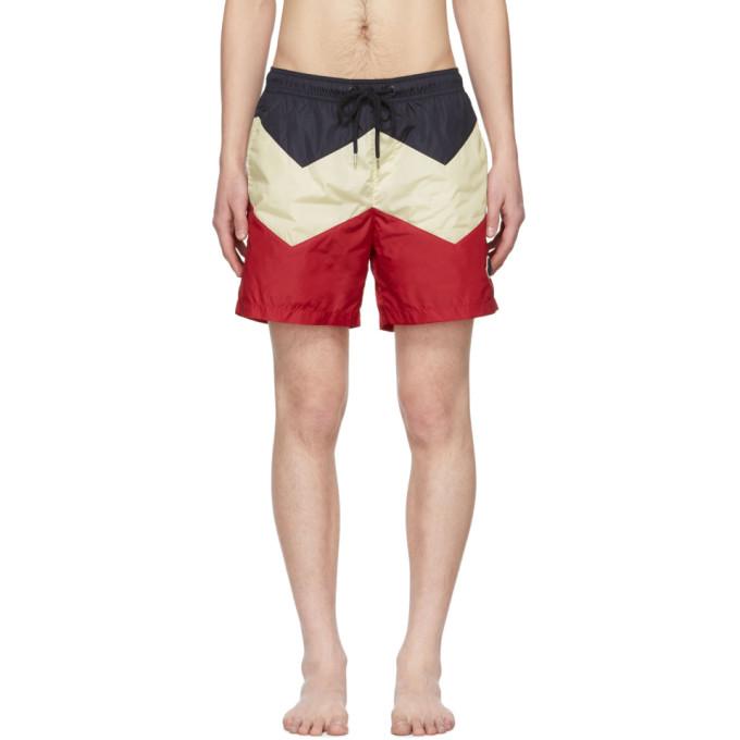 Moncler Maillot de bain tricolore Mare
