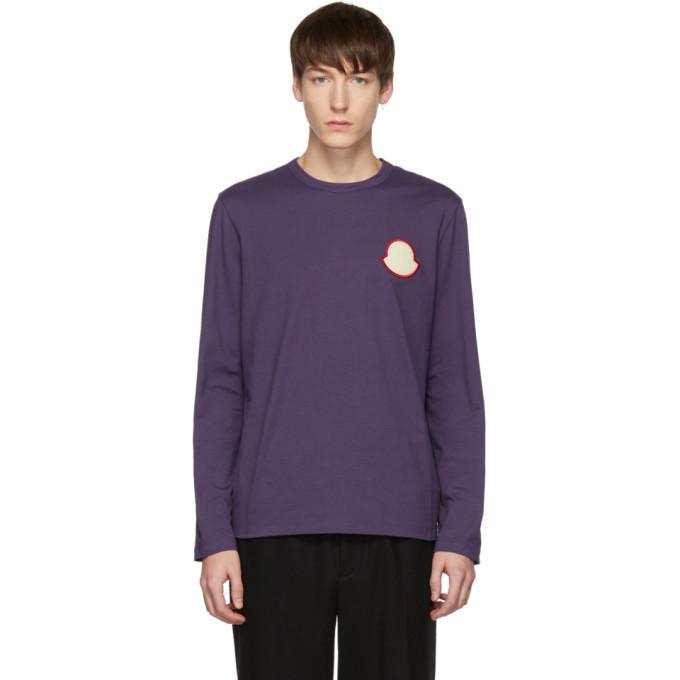 Moncler Purple Maglia Bell Long Sleeve T-Shirt