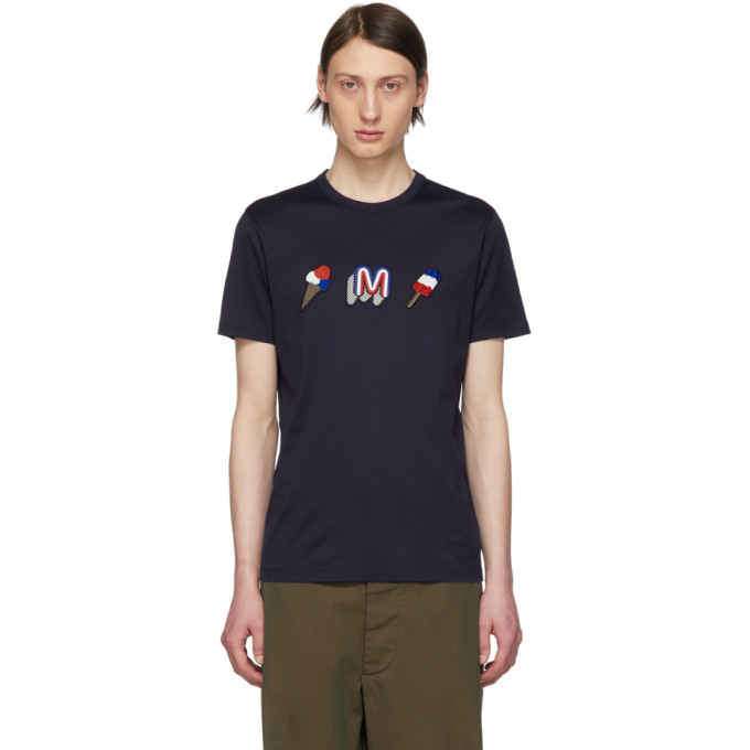 Moncler Navy Ice Cream T-Shirt