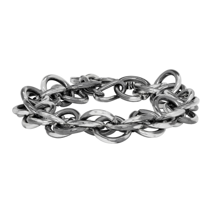 Image of Chin Teo Silver Spiral Chain Bracelet