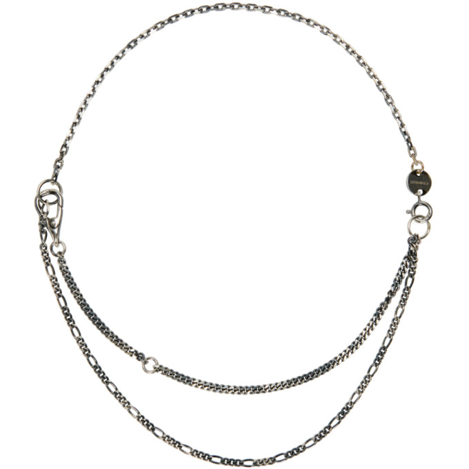 Image of Chin Teo Silver Short Mixed Chain Necklace