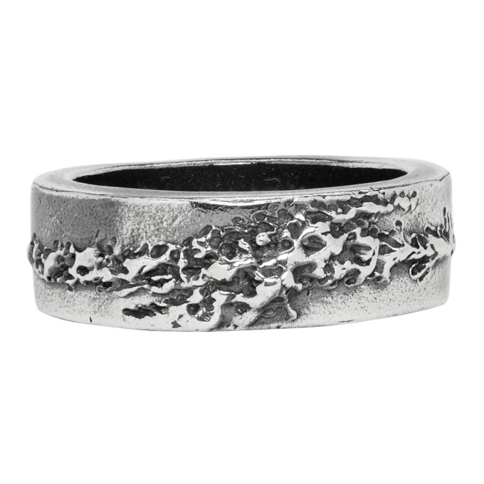 CHIN TEO Chin Teo Silver Flame Ring in Cp Dksilver