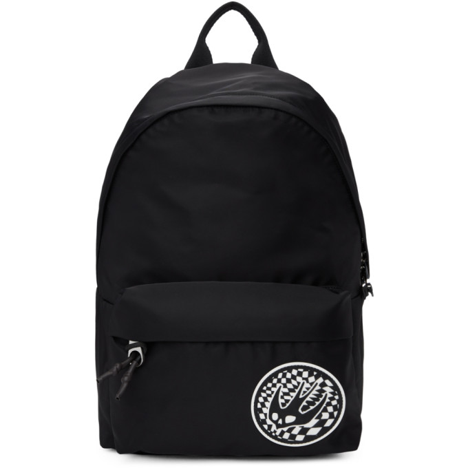 McQ Alexander McQueen Black Swallow Patch Classic Backpack