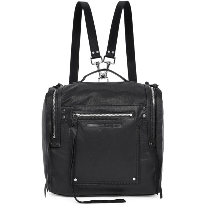 McQ Alexander McQueen Black Convertible Loveless Box Backpack