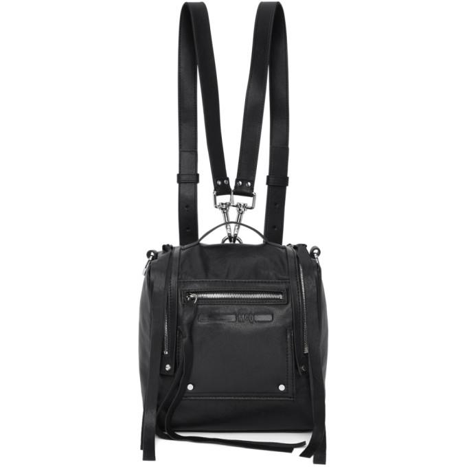McQ Alexander McQueen Black Mini Convertible Box Backpack