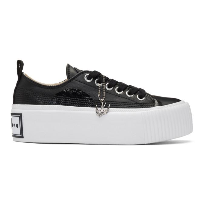 McQ Alexander McQueen Black Plimsoll Platform Low-Top Sneakers