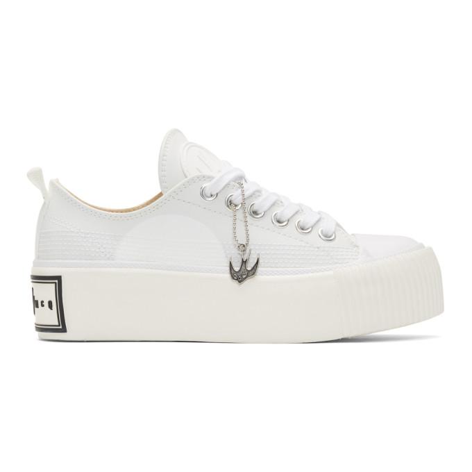 McQ Alexander McQueen Off-White Plimsoll Platform Low-Top Sneakers