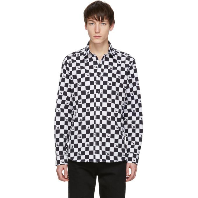 McQ Alexander McQueen ブラック & ホワイト シールド 25 シャツ