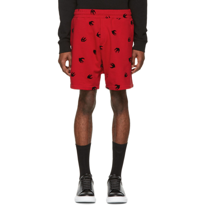 Mcq Alexander Mcqueen Red Mini Swallow Shorts in 61 Cad Red