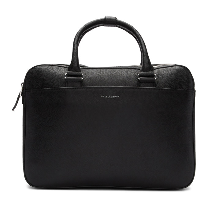 Image of Tiger of Sweden Black Alva Briefcase