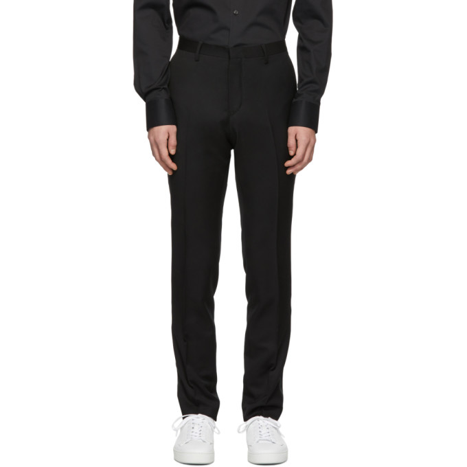 Image of Tiger of Sweden Black Thulin Tuxedo Trousers