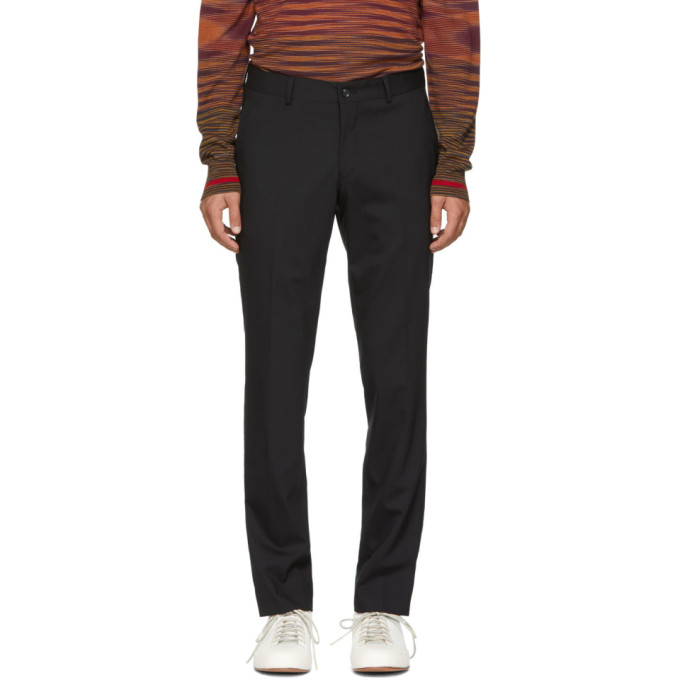 Image of Tiger of Sweden Black Herris Trousers