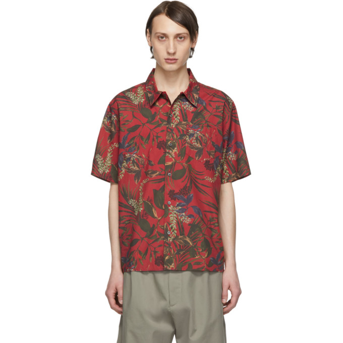 Norse Projects T-shirts NORSE PROJECTS RED CARSTEN PRINT SHIRT