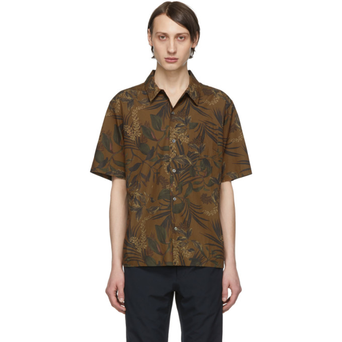 Norse Projects Chemise kaki Carsten Print
