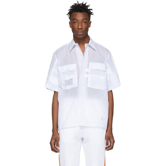Xander Zhou Chemise en nylon blanche