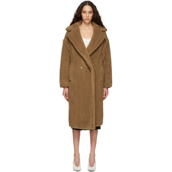 Max Mara Tan Teddy Coat in Camel