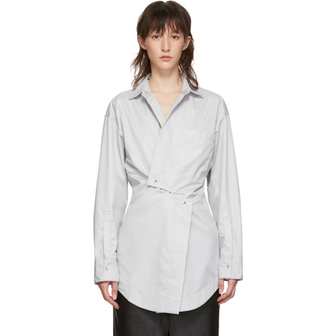 Markoo Chemise a boutons-pression grise