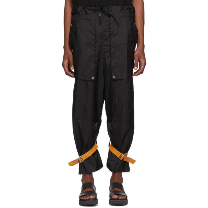 BED J.W. FORD Pantalon cargo noir