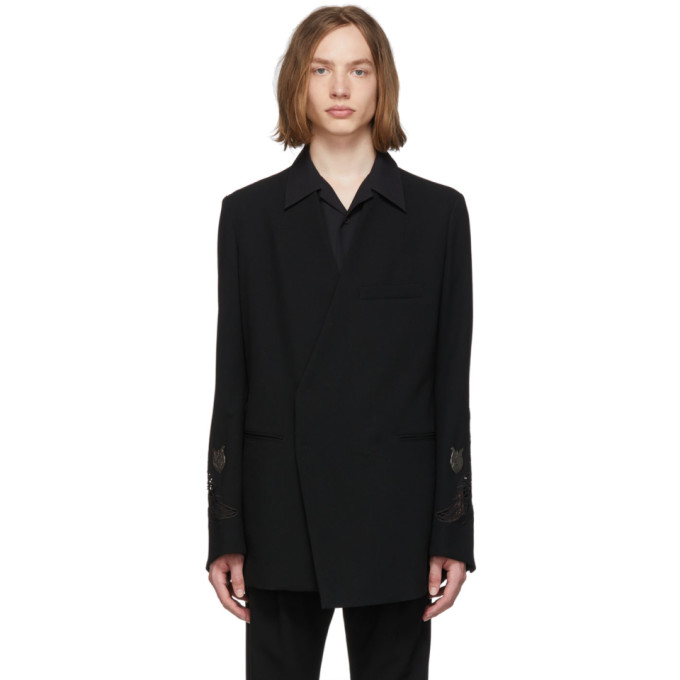 BED J.W. FORD Blazer en laine noir