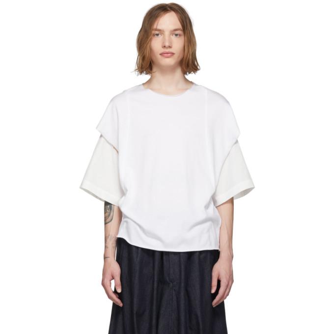BED J.W. FORD T-shirt blanc Cut-Sew