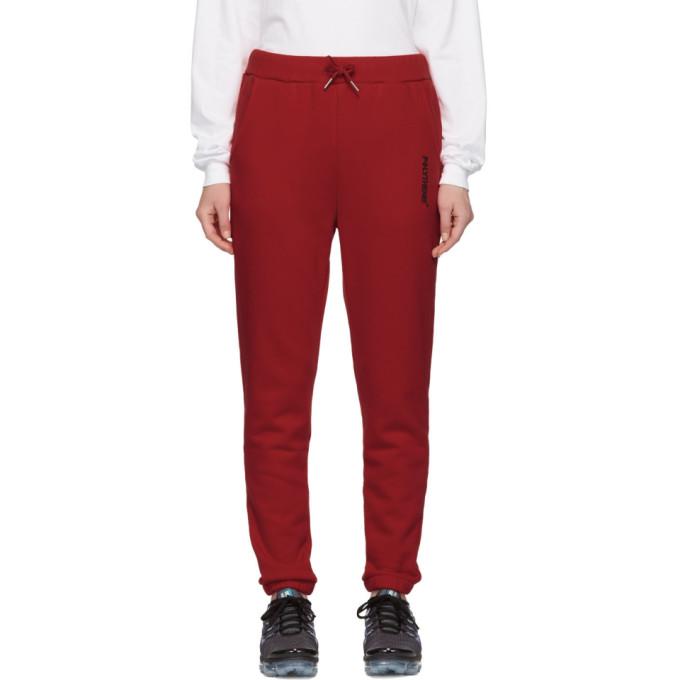 Polythene* Optics Pantalon de survetement en molleton rouge