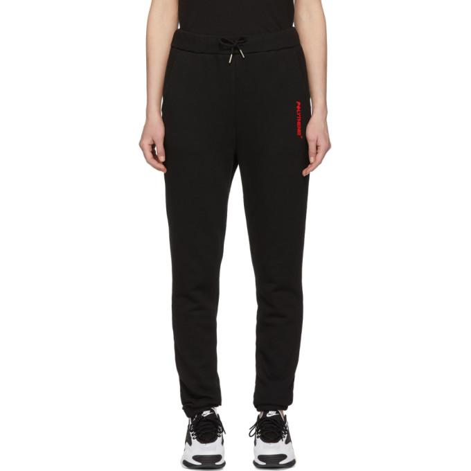 Polythene* Optics Pantalon de survetement en molleton a logo noir