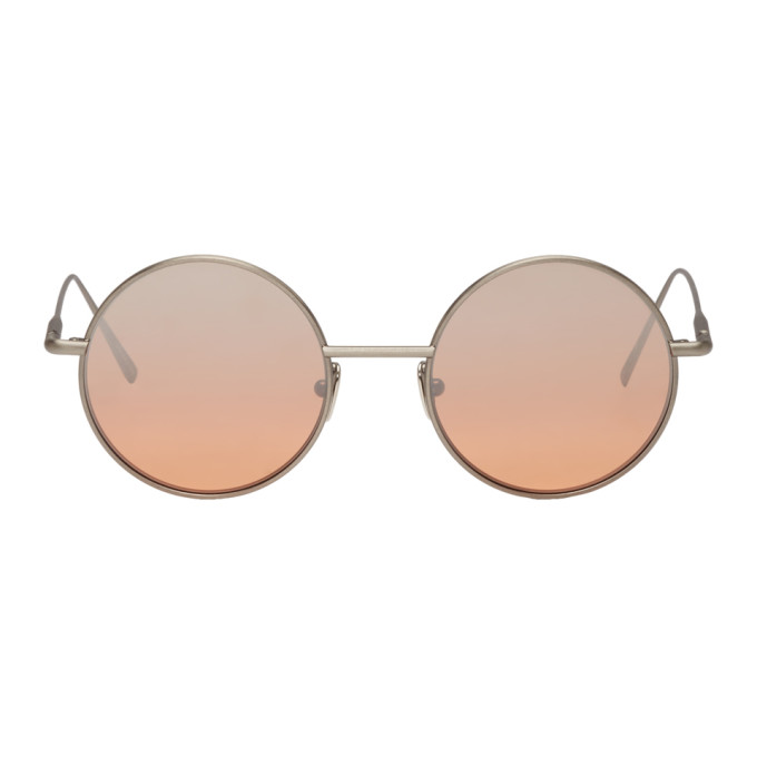 Acne Studios Silver and Orange Scientist Sunglasses
