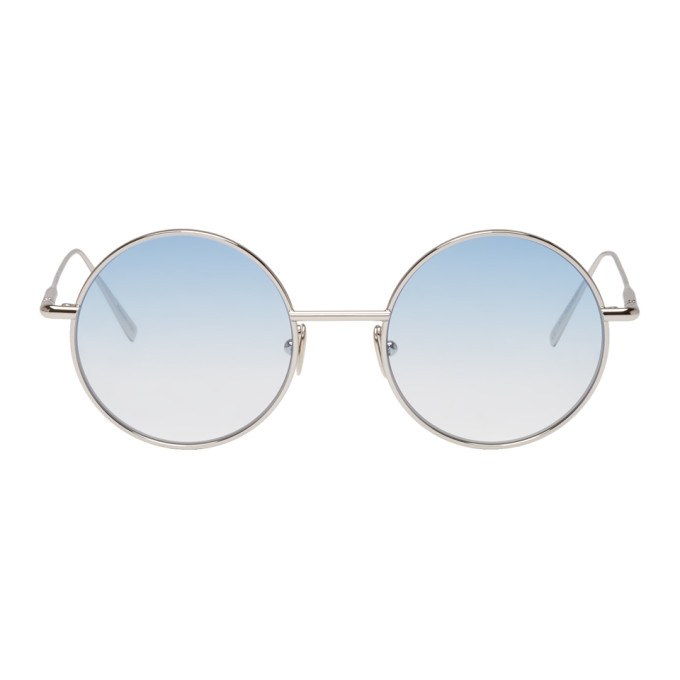 Acne Studios Silver and Blue Scientist Sunglasses