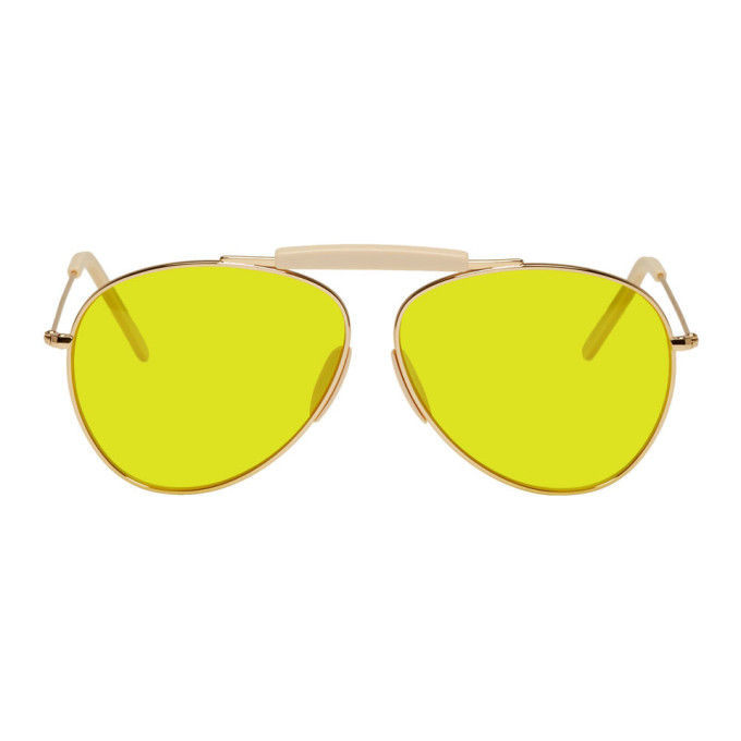 Acne Studios Gold and Yellow Howard Sunglasses
